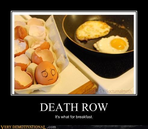 cooking Death Row eggs hilarious scary