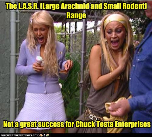 The L.A.S.R. (Large Arachnid and Small Rodent) Range Not a great success for Chuck Testa Enterprises
