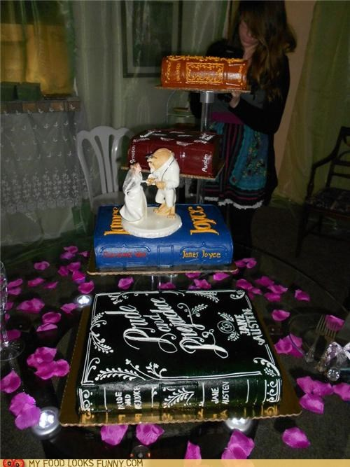 Beauty and the Beast,books,cake,epicute,tiered,wedding cake
