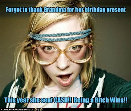grandma mean presents weird kid - 5362520576