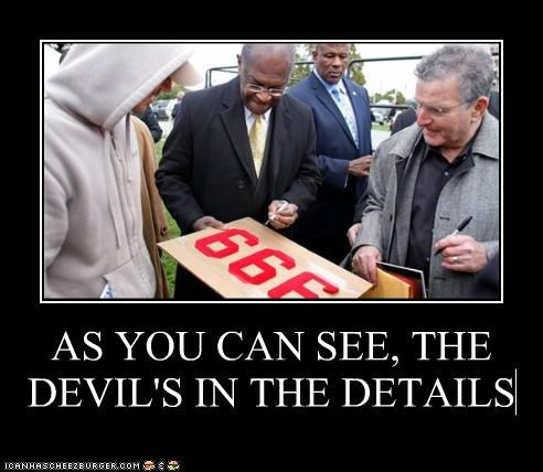 999 plan,devil,herman cain,political pictures