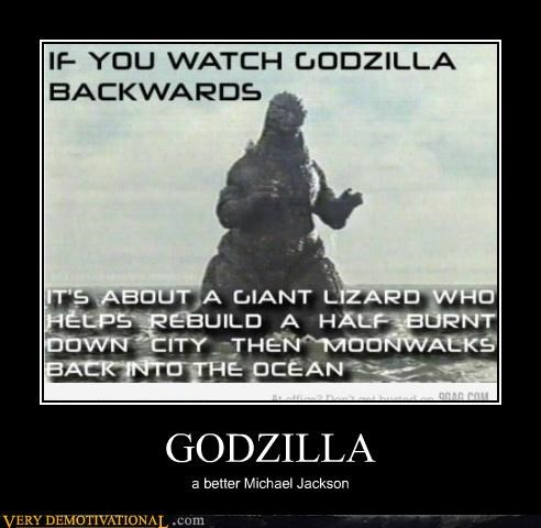 godzilla Hall of Fame hilarious michael jackson Movie wtf