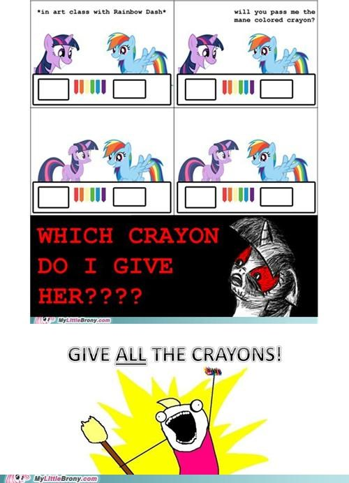 all the crayons art class best of week comics crayon mane rainbow dash twilight sparkle - 5363518464