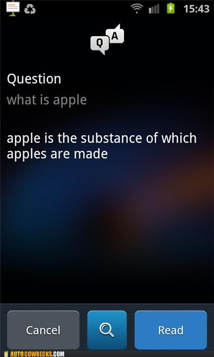 apple question and answer vlingo