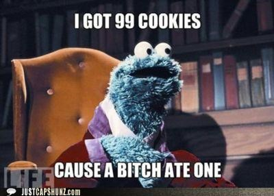 99 99 cookies 99 percent 99 problem Cookie Monster cookies Sesame Street - 5363644416