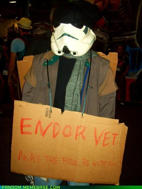 beggar,cosplay,endor,hobo,Movie,star wars,stormtrooper