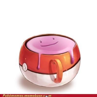 art cup cute ditto kinda gross pokeball transform - 5364044544