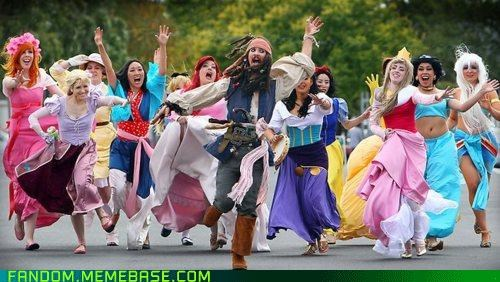 cosplay,disney,disney princesses,jack sparrow