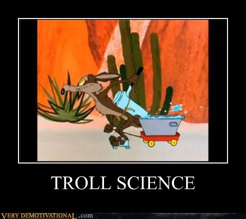 hilarious troll science wile e coyote