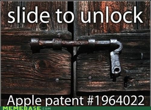 apple,Memes,patent,phone,slide,unlock