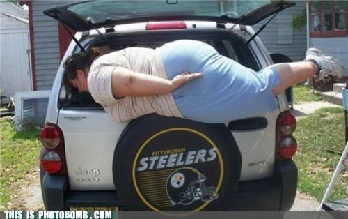 best of week car fat girl jeep Planking steelers stuck - 5364273152