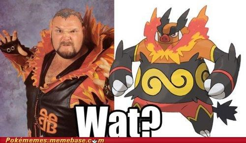 bam bam bigelow,emboar,halloween,IRL,problem,totally looks like,wrestling