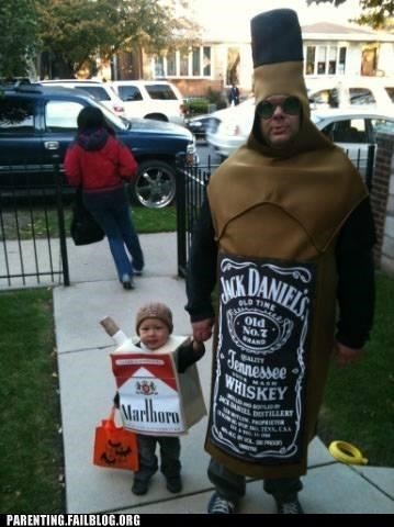 addiction,alcohol,booze,cigarettes,costume,halloween,Parenting Fail
