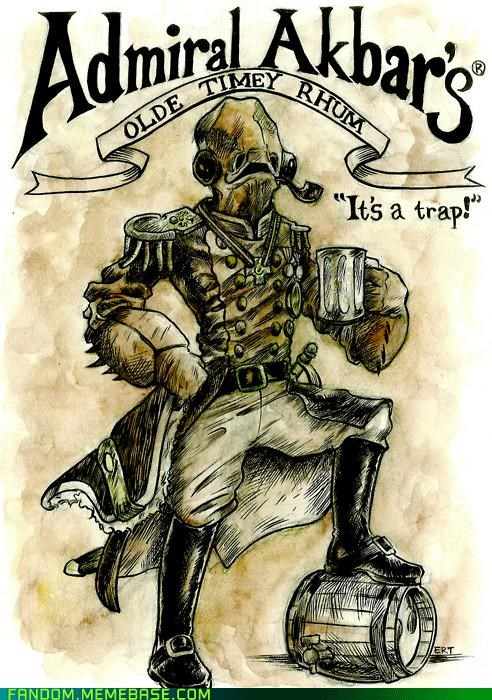 admiral akbar Fan Art its a trap Rum star wars - 5364430848