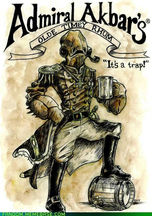 admiral akbar Fan Art its a trap Rum star wars - 5364430848
