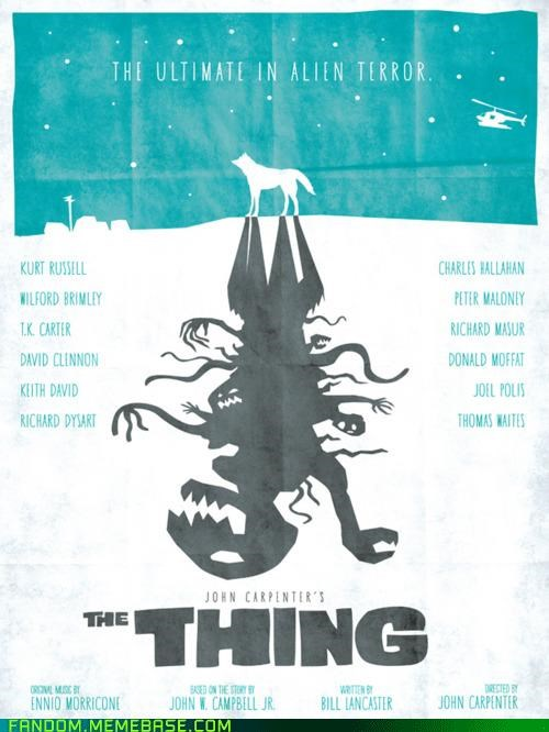 Fan Art john carpenter Movie movie poster The Thing - 5364446208