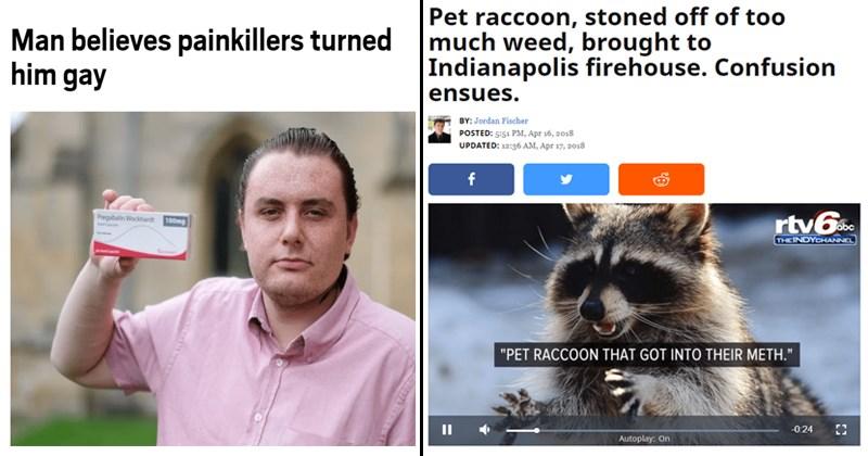 Funny news headlines.