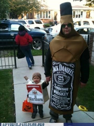 children cigarettes costume halloween influence jack daniels marlboro positive Think Of The Children whiskey