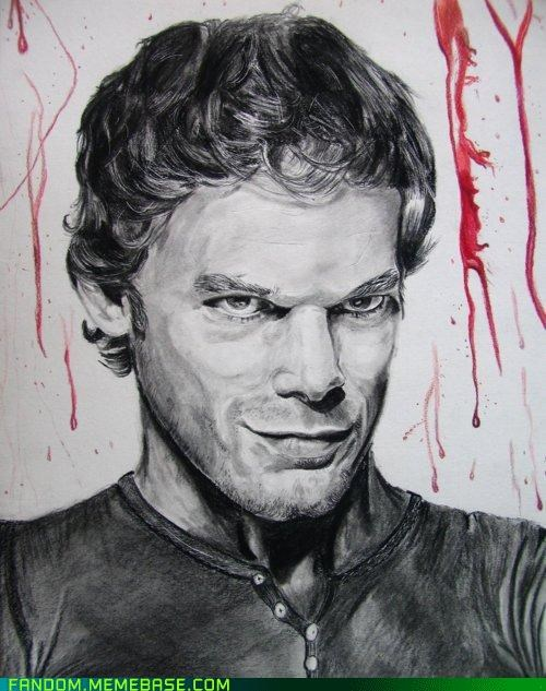 art,Dexter,Fan Art,sketch,television