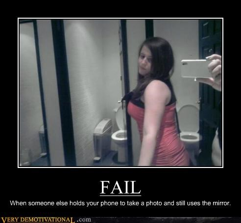 FAIL idiots mirror Photo pic - 5364517632