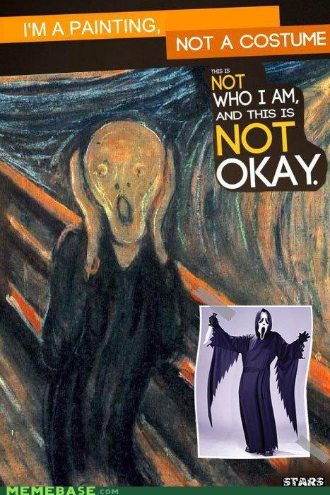 classic costume culture Memes painting scream - 5364634880
