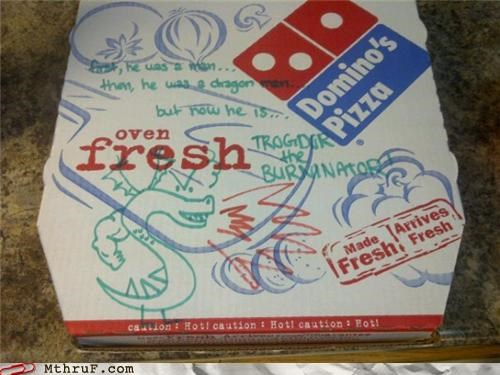 box,dominos,drawing,homestar runner,pizza,trogdor