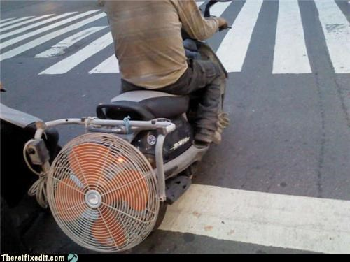 bad puns dual use fans motorcycle