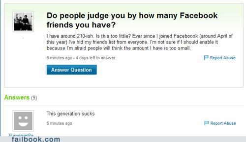 facepalm,friends,judgement,yahoo answers