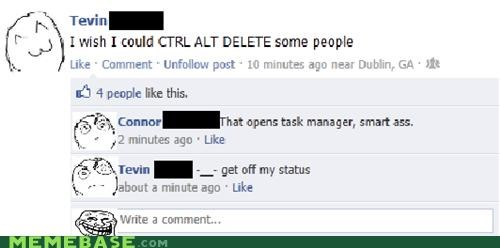 control,facebook,Rage Comics,task manager,Technologically Impaired Duck