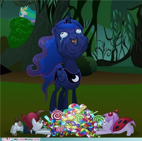 celestia halloween luna nightmare night ponies - 5365495808