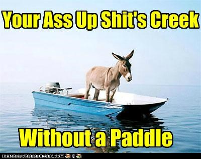 Your Ass Up Shit's Creek Without a Paddle