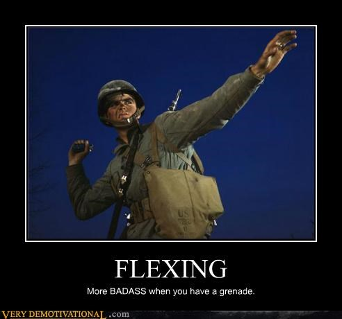 military,funny,grenades,flexing