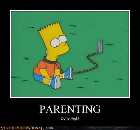 cartoons hilarious parenting simpsons - 5366279168