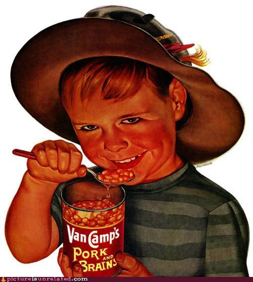 Ad,baked beans,brains,kid,wtf