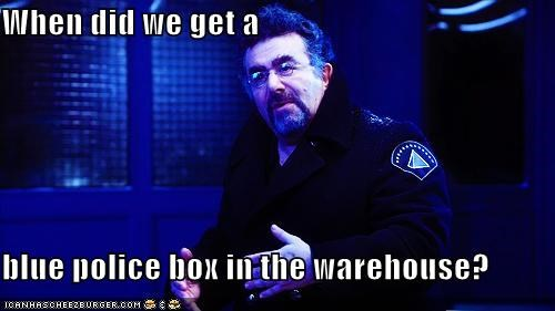 artie blue box saul rubinek tardis warehouse warehouse 13 - 5366608896