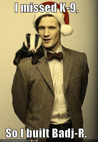 badger,doctor who,k-9,Matt Smith,missing,the doctor