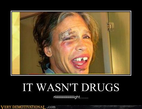 drugs falling hilarious passed out steven tyler