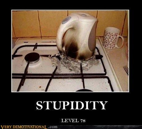 bad idea hilarious pot stove stupid tea - 5367155456