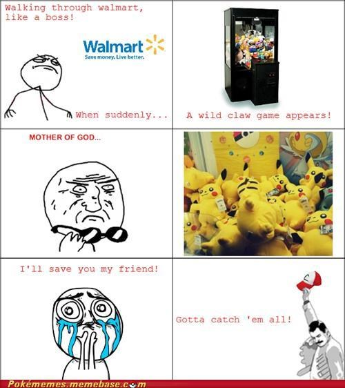 claw game gotta catch em all ill save you pokefriend rage comic Rage Comics Walmart - 5367261696
