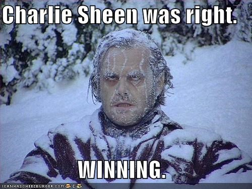 the shining Charlie Sheen jack nicholson snow winning - 5367301120