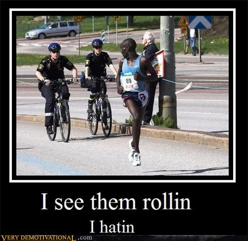 cops,hating,hilarious,racism,rolling,runner