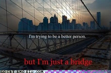 bridge hipsterlulz person Sad