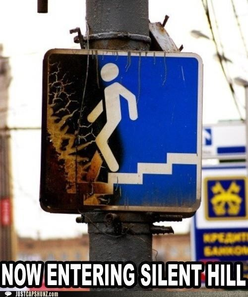 road sign road signs sign silent hill - 5367867648