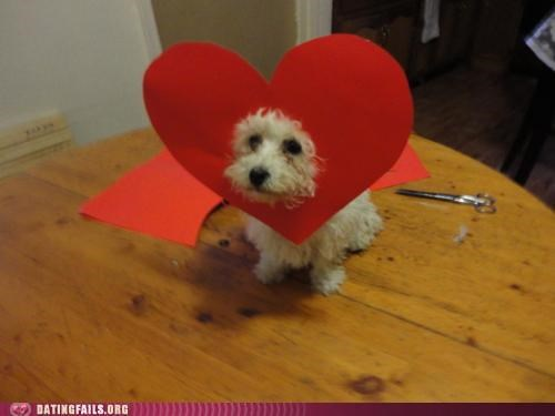 construction paper daw heart puppy We Are Dating - 5367890176