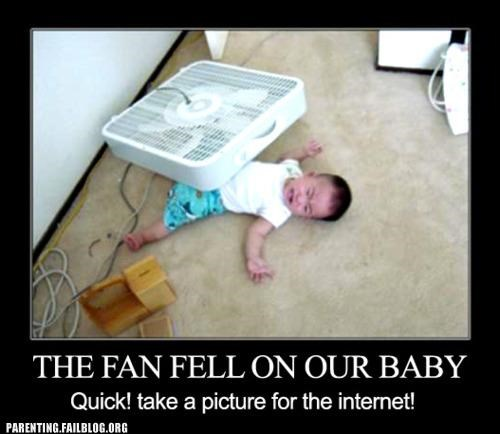 accident baby camera fan internet Parenting Fail - 5368216064