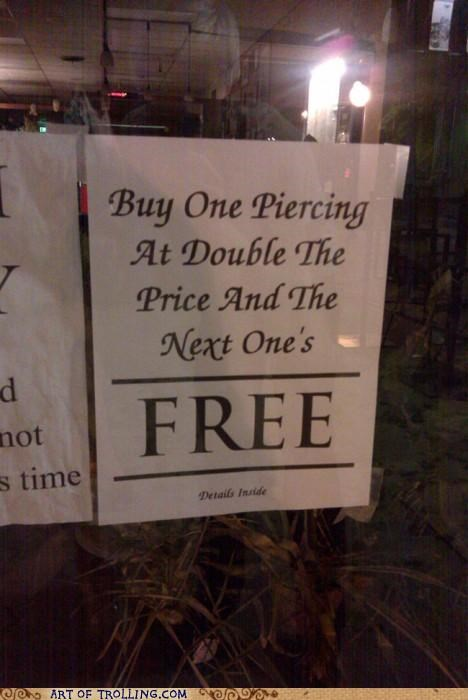 buy one get one IRL piercing sign - 5368216320