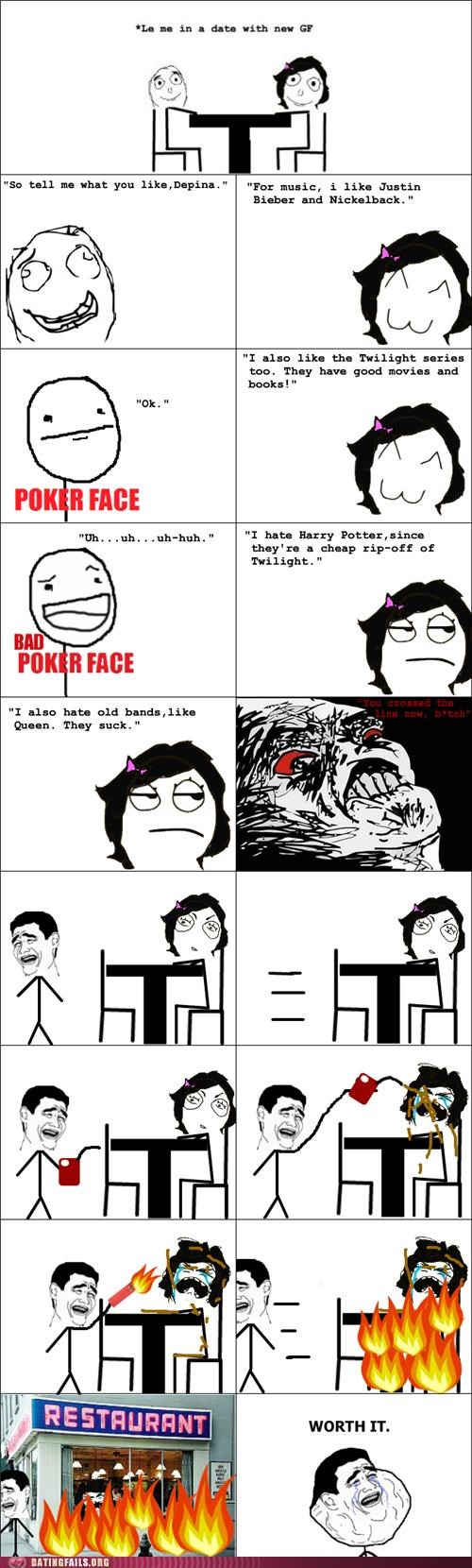 comic,Harry Potter,justin bieber,nickelback,pop culture,rage comic,twilight,We Are Dating