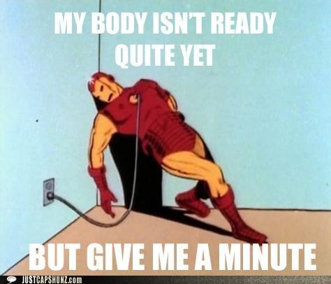 art comic foreplay give me a minute iron man sexy superhero - 5368492032