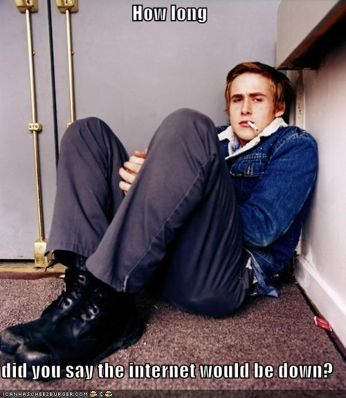 actors bored cigarettes internet Ryan Gosling smoking - 5368583168