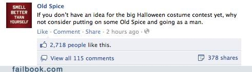 costume,halloween,old spice,win,witty status